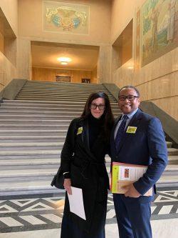 Coalition Board Member Karie Burch with John Goodwin, Portland Art Museum